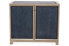 Carlyle Leather Upholstered Cabinet   Love the Look   One Kings Lane