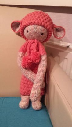 LUPO the lamb made by Ditty R. / crochet pattern by lalylala