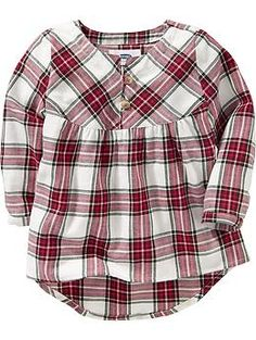 Hi-Lo Plaid Shirts for Baby | Old Navy