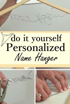 Diy 2 bridal door hanger pinterest wedding weddings and add personal touch to your big day with charming diy name hanger solutioingenieria Images