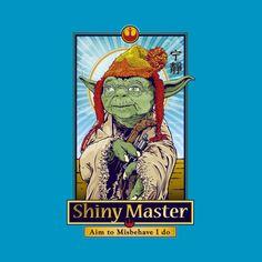 Awesome 'Shiny+Master' design on TeePublic! - Funny Cool Shirt (SciFi Tshirts)
