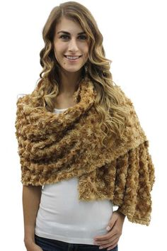 Ultra Plush Faux Fur Long Wrap