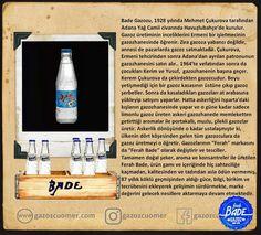 Ferah Bade Gazozu / Efsane Gazozlar Vodka Bottle, Drinks, Drinking, Beverages, Drink, Beverage