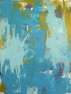 "Saatchi Art Artist: Isabelle Gautier; Acrylic 2014 Painting ""Iee Storm I-Weather SEries_"" Abstract"