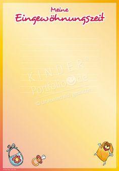 "Kindergarten Portfolio Templates ""My Acclimatization Period"""