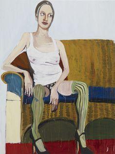 Chantal Joffe Kristen 2008. Oil on board, 96 x 72 inches.