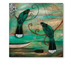 Manuka Chain by Kathryn Furniss - Art Prints New Zealand Print Artist, Artist Painting, Painting Prints, Fine Art Prints, Art Maori, New Zealand Art, Nz Art, Sculpture Art, Metal Sculptures