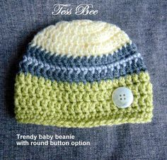 Baby Boy Hat Baby Beanie Trendy Baby Hat Take Home Hat | Etsy Baby Shower Gifts For Boys, New Baby Gifts, Baby Boy Shower, Baby Boy Beanies, Crochet Baby Hats, Sewing A Button, Handmade Baby, Trendy Baby, New Baby Products
