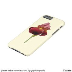 Slim case - Iris, cream background  For Samsung galaxy and Iphone Other designs and styles available