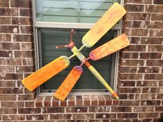 Table leg dragonfly with fan blades....what to do with those old fan blades!