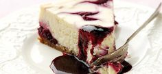 Lime and Blackcurrant Cheesecake
