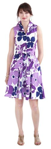 I love this dress.  I have it in white and red.  Perfect for a garden party!