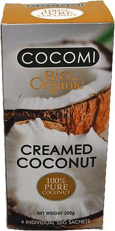 Kokosové maslo - smotana BIO Snack Recipes, Snacks, Chips, Coconut, Pure Products, Cream, Food, Tapas Food, Appetizer Recipes