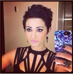Cute dark pixie style! #hair #makeup