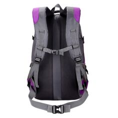 Amazon.com   D.jiani Outdoor ultra-portable folding skin bag men and women  travel backpack waterproof travel mountaineering bags Chong (purple)    Sports   ... c172bf0e06