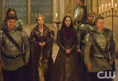"""Reign -- """"Acts of War"""" -- Image Number: RE209a_0306.jpg -- Pictured (L-R): Megan Follows as Catherine de Medici and Adelaide Kane as Mary, Queen of Scotland and France -- Photo: Ben Mark Holzberg/The CW -- © 2014 The CW Network, LLC. All rights reserved."""