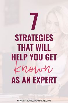 7 Strategies That Will Help You Get Known As An Expert - Miranda Nahmias & Co. - 7 Strategies That Will Help You Get Known As An Expert // Miranda Nahmias — A digital Promoting Defined Small Business Marketing, Business Branding, Online Business, Small Business Consulting, Affiliate Marketing, Online Marketing, Digital Marketing, Marketing Plan, Content Marketing
