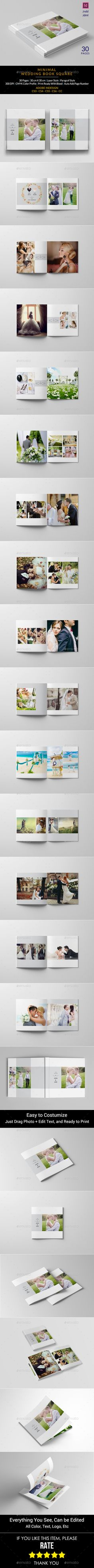 Minimalist Square Wedding Album - Photo Albums Print Templates I download click here http://graphicriver.net/item/minimalist-square-wedding-album/14778565?ref=imanvector
