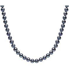 Kimura Pearls Or Jaune 9 Carats 5 mm Perles d'eau douce de culture rond semi Noir Bracelet