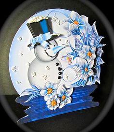 Card Gallery - Little Snowman Snow Globe Card Mini Kit