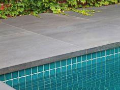 Eco Outdoor square edge bluestone coping, Paul Bangay Design. Eco Outdoor | Bluestone tiles | livelifeoutdoors | Outdoor Design | Natural stone flooring | Garden design | Outdoor paving | Outdoor design inspiration | Outdoor style | Outdoor ideas | Luxury homes | Paving ideas | Garden ideas | Natural stone paving | Floor tiles | Outdoor tiles  | Pool ideas