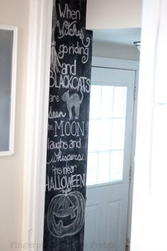 chalkboards, chalkboard walls, kitchen chalkboard, halloween chalkboard, chalkboard art