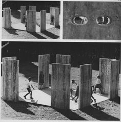 Enzo Mari's Big Stone Game Playground.