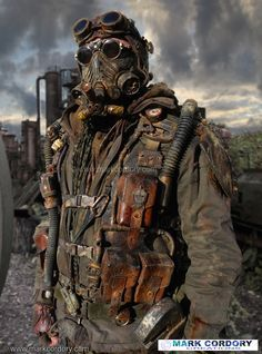 Post Apocalyptic costume. LARP - cosplay. Mark Cordory Creations. www.markcordory.com