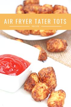 Homemade Air Fryer Tater Tots - toss the bags of tater tots and make your own! With less oil and more flavour these will quickly become a family favourite! Air Fryer Recipes Tater Tots, Air Fryer Recipes Potatoes, Tater Tot Recipes, Air Fry Recipes, Potato Recipes, Yummy Recipes, Recipies, Vegan Recipes, Tater Tot Bake