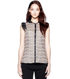 Arabelle Dotted Tulle Shell | Womens Sale | ToryBurch.com