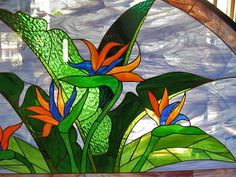 Stained Glass Arch Birds of Paradise
