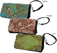 Antique Sari Wristlet