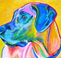 I love this Pop Art inspired dog portrait!