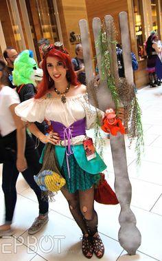 Steampunk Ariel at Dragon Con 2015. (Big dinglehopper!)