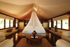 Amanwana hotel on Moyo Island in Indonesia