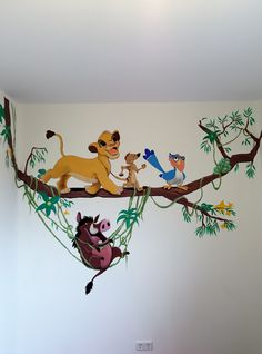 Disney Wall mural for a kids room Amazing I would so love to