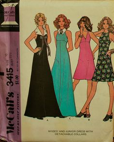 my mother made a formal for me from a pattern like this.  the pink dress in black but long.  i loved it.