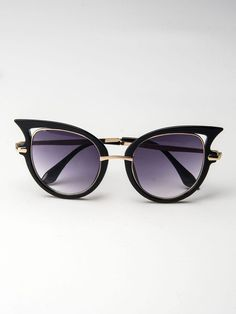 Black Cat Eye Mirror Sunglass