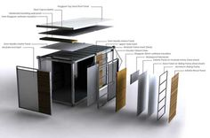 [ shipping container home ] materials analysis Shipping Container Buildings, Shipping Container Design, Shipping Containers, Container Home Designs, Modular Housing, Modular Homes, Container Office, Casas Containers, Building A Container Home
