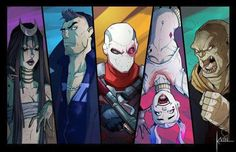 Found this Suicide Squad fan-art inspired by the upcoming movie. Cara Delevigne as Enchantress, Jai Courtney as Captain Boomerang, Will Smith as Deadshot, Margot Robbie as Harley Quinn and Adewale Akinnuoye-Agbaje.
