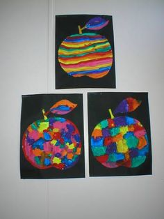 Pommes artistiques Projects For Kids, Art Projects, Crafts For Kids, Arts And Crafts, Theme Pictures, Apple Theme, Puffy Paint, Drawing Lessons, Simple Art