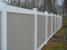 Vinyl Fence Color Vinyl Fence