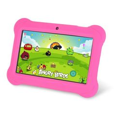 Best Tablet for Kids - Orbo Jr. 4GB Android 4.1 Five Point Multi Touch Tablet PC - Kids Edition [March 2014] - Pink kids tablet