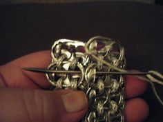 How to make a recycled bag. Pop Tab Purse!! - Step 8