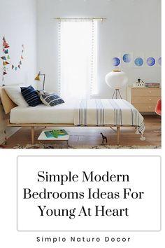 Create a simple yet classic bedroom for your kids. #bedroomideas #bedroomdesign #modernbedroom Airy Bedroom, Scandinavian Bedroom, Modern Bedroom Design, Bed Storage, Minimalist Decor, Quality Furniture, Beautiful Bedrooms, Luxury Bedding, Tween