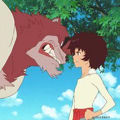 Bakemono no Ko (The Boy and the Beast) - 2015 Studio Ghibli, Hayao Miyazaki, Bakemono No Ko, Mamoru Hosoda, Japanese Animated Movies, Film D, Romance Movies, Cartoon Games, Pretty Art