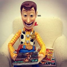 Toy Story, Woody Reading Playboy