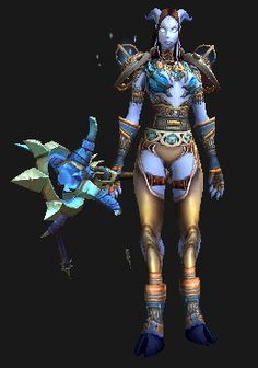 devilwearstransmog:  Okay, so it's possible I rolled my first female draenei shaman some fifteen minutes after discovering the existence of this chestpiece. Thanks, Armor of the Single Cloud! See the full set at DevilWearsTransmog.com