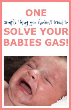 Does your baby have gas?I have discovered one little trick that will ease it up alot, if not make it completely disappear! Find out what that is here!