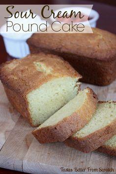 The BEST Sour Cream Pound Cake on MyRecipeMagic.com
